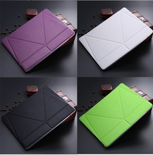 LETSVIEW Factory 2015 New Bulk Order Low Price PU Flip Slim Smart Leather Case Stand Soft Back TPU Flexible Cover for Ipad