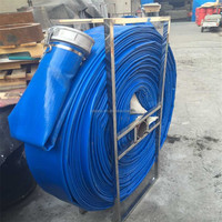 6 inch pvc irrigation lay flat water discharge hose with coupling