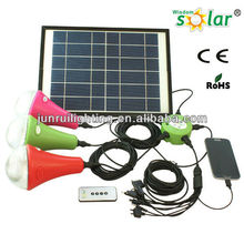 3 LED bulbs 15W solar lights for home use, home solar system with mobile charger
