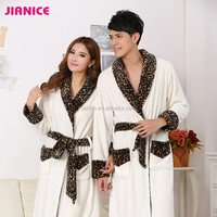 2015 Hot item winter adult unitsex full length flannel white sleeping robe for women and men inquiry now