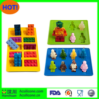 lego wholesale Building Bricks Style Lego Building Block Ice Cube Tray Candy Chocolate Mold Jello Mold Ice Mold