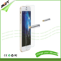 Transparent tempered glass screen protector 9H 0.33mm for iphone 5 5s 6 6plus 6s