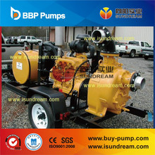 SW/SWH diesel engine trailer mounted self priming sewage pump