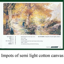 Imports of semi light cotton canvas prints