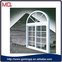 Fashionable house aluminum fixed glass window with grids
