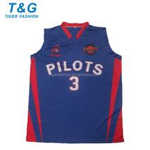 Custom sublimated latest basketball jersey design