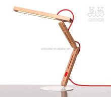 Solid Wood Design Table Lamp Bedside Desk Floor Light Home Cafe Bedroom NEW 10w