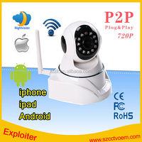 Newest Wholesale 32GB SD Card hd 720p 1.0 Megapixel P2P WIFI IP Camera IP