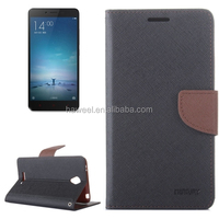 Color Matching Cross Texture Flip Leather Case with Holder & Card Slots & Wallet for Xiaomi Redmi Note 2