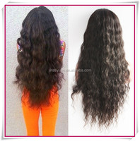 2014 New products extra long human hair loose wave lace front/full lace wig 180 density
