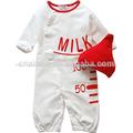 100% suave de algodón barato lindo agradable de la moda al por mayor ropa bebé china