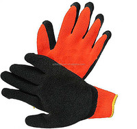 good quality safety yellow cotton chore gloves ,latex coated cut resistant working gloves