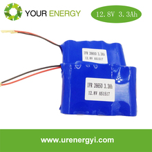 12V 3300mAh deep cycle power tool battery lifepo4 battery pack with CE