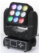 ( WLEDM-16-2) 9 pcs rgbw 12w leds matrix wash moving head colorations night club