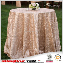 Champagne/silver/black top quality Sequin tablecloth for banquet