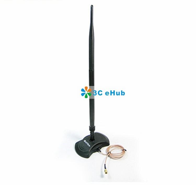 продаете 10dbi 2,4 ГГц rp-sma wifi антенна с магнитной базовый ep-ab001