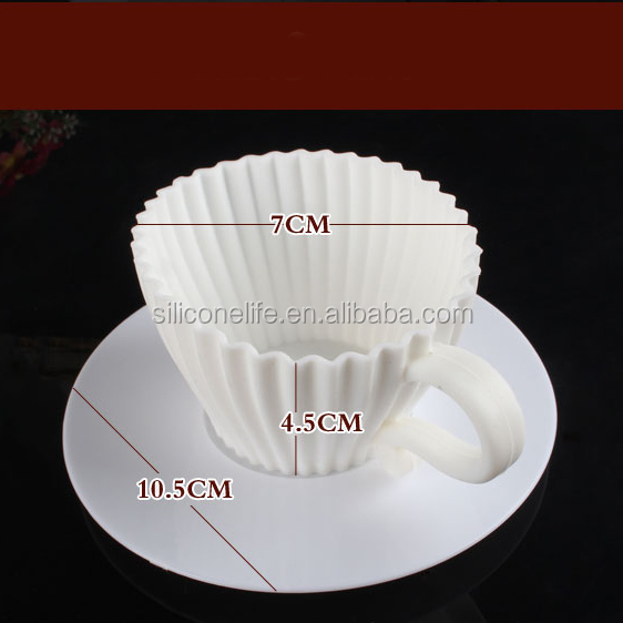 Wholesale 4pc Set Silicone Tea Cupcake