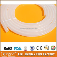 Export UK USA America FDA Milk Beer Water Medical & Food Grade Polyester Fiber Reinforcement Silicone Hose, White Silicone Tube
