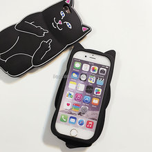 3D Cute Cartoon Cat Silicone Mobile Phone Case For iPhone6 6S Plus