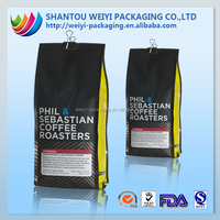 Low-cost Flexible non woven material side gusset packaging for food for coffee