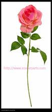 De color rosa púrpura decorativo de alta calidad flor color de rosa modelo de alta calidad falso flor de contacto real