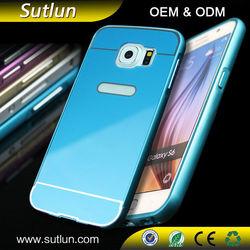Luxury Aluminum Metal Bumper Case + Hard Back Cover For Samsung galaxy s4 s5 s6 s6 edge note 3 4 A3 A5 A7 E5 E7 J4 J5 J7