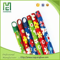2015 New style colorful pvc cover wooden broom stick