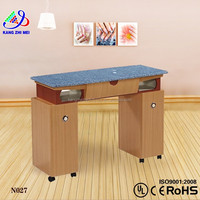 Salon nail table fan/manicure table nail salon furniture/nail tables for sale KM-N027