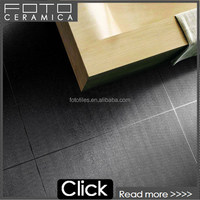 Black metallic glazed ceramic floor tile