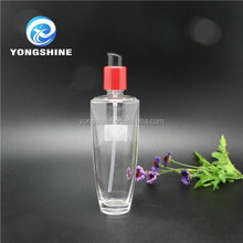 130ml Glass Lotion Bottle with pump and plastic lid for cosmetic packaging