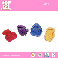 More fun 3D fruit shapes high quality cookie cutter for kids