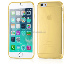 2015 hot sale soft tpu phone case for iphone 6 /6s plus case, for apple iphone 6 gold color
