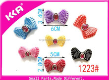 New popularly plastic butterfly shape shoe decorations
