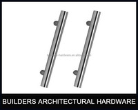 L shaped stainless steel pull handle for glass door