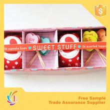 HOT party decoration set/ Cake box for party
