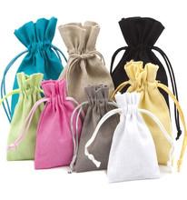 Fashion Mini Linen Drawstring Funny Gift Bags