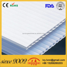 Corrugated plastic sheets for floor and wall protection