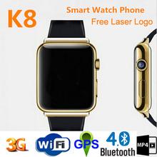 Newest design wifi bluetooth hd ips screen watch phone dual sim 3g