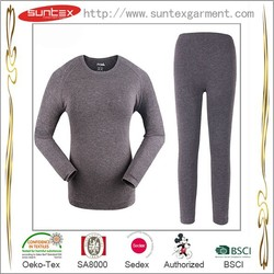 Wrap Okeo tex SA8000 BSCI Manufacturer for Merino Wool Thermal Underwear lady underwear