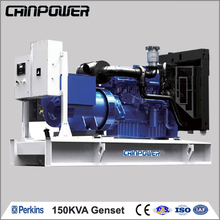 150kva 120kw 50hz open type diesel generator powered by UK PERKINS(1106A-70TAG2)