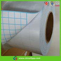 2015 china factory 70120 matt cold lamination film, white paper with blue lines, cold laminating film