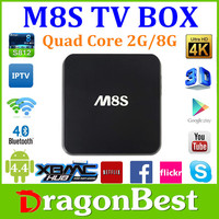 Original tv android with 2G/8G Dual Band Wifi Android 4.4 Amlogic S812 Full HD m8 android tv box