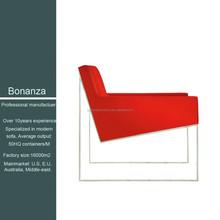 Latest design single seater sofa design 8036# single seater sofa in genuine leather, PU and bonded leather
