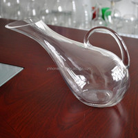 Hotel home latest party premium art handcraft wholesale clear glass wine decanter