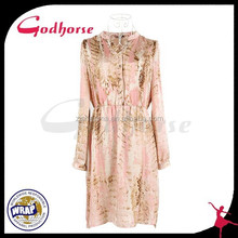 New Products 2015 Innovative Product,Pink Long Sleeve Dress