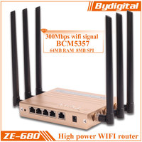 Bydigital BCM5357 300Mbps 100m/1000m Enterprise opwrt router wifi 3g router