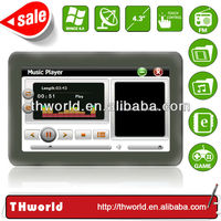 Shenzhen factory sale 4.3 inch Thailand map navigation system with 128M DDR 4GB memory