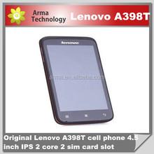 Original Lenovo A398T 4.5inch IPS SC8825 Dual core Dual SIM phone Android 4.0 WIFI 5.0MP camera Rom 4GB