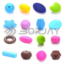 16 Kinds Of Color And Different Shape FDA Approved Silicone Beads Custom Wholesale