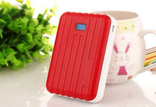 Promotional Gifts Luggage style 12000mah external power bank for iphone/ipad
